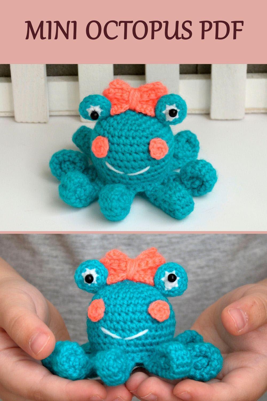 Miniature Crochet Pattern Octopus Miniature Amigurumi Pattern Mini Crochet Pattern Mini Crochet Animals Crochet Octopus Amigurumi In 2020 Knitting Patterns Toys Amigurumi Patterns Crochet Patterns Amigurumi