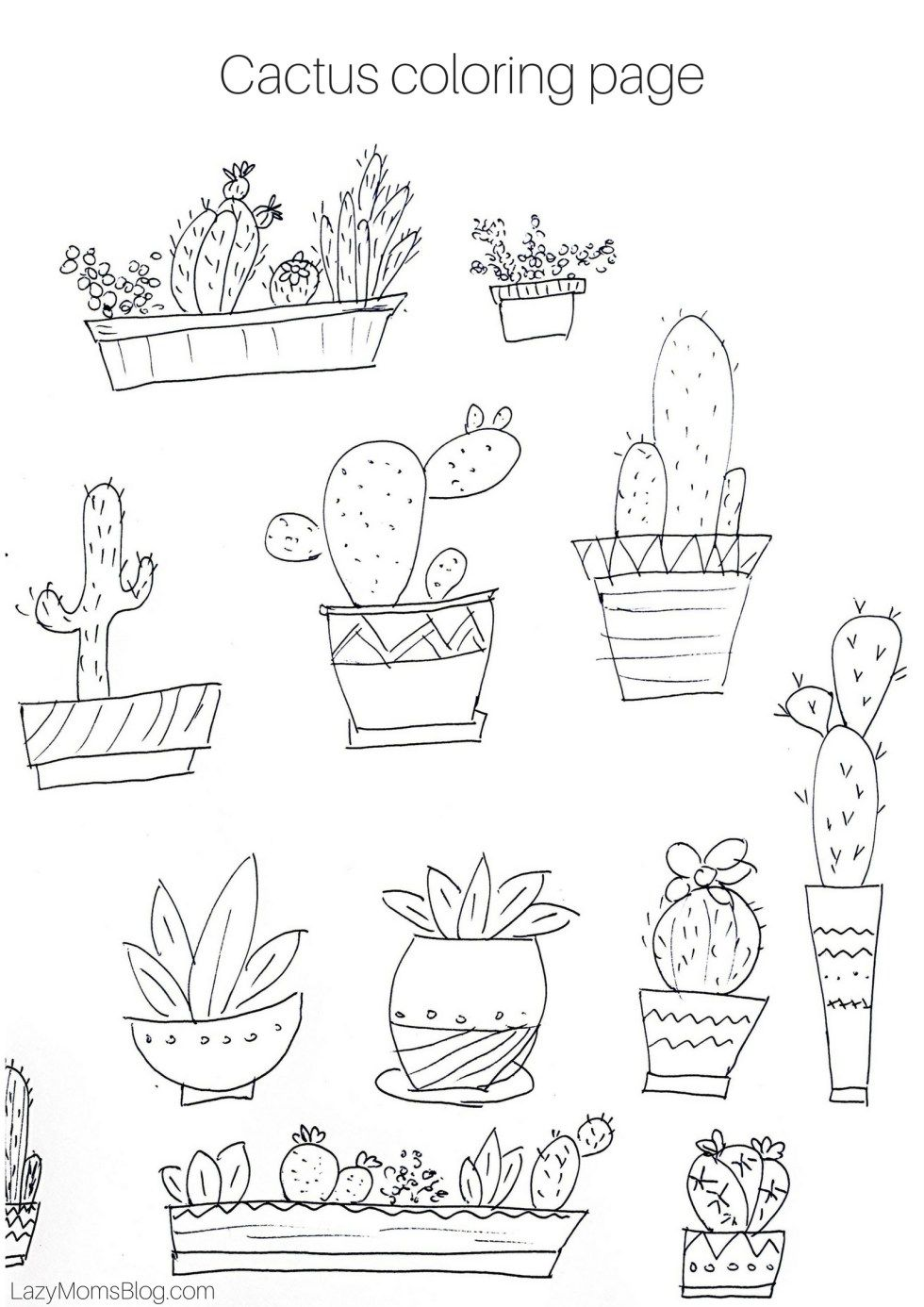 Free Printable Cactus Coloring Page Free Printable Coloring