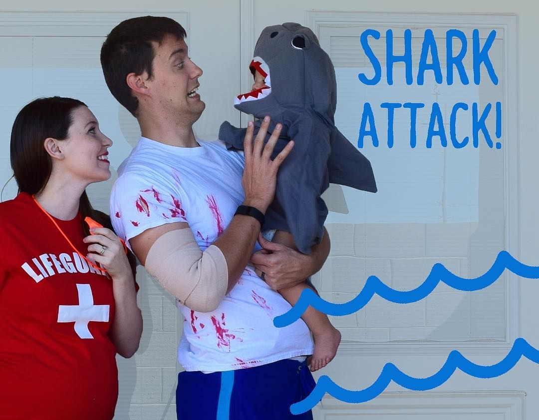 Quick and easy family Halloween costume idea - shark ...
