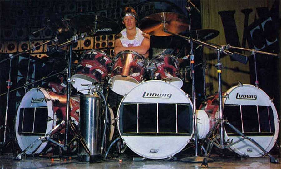 Alex Van Halen 1983 Lips Mouth Kit Alex Van Halen Van Halen Drums