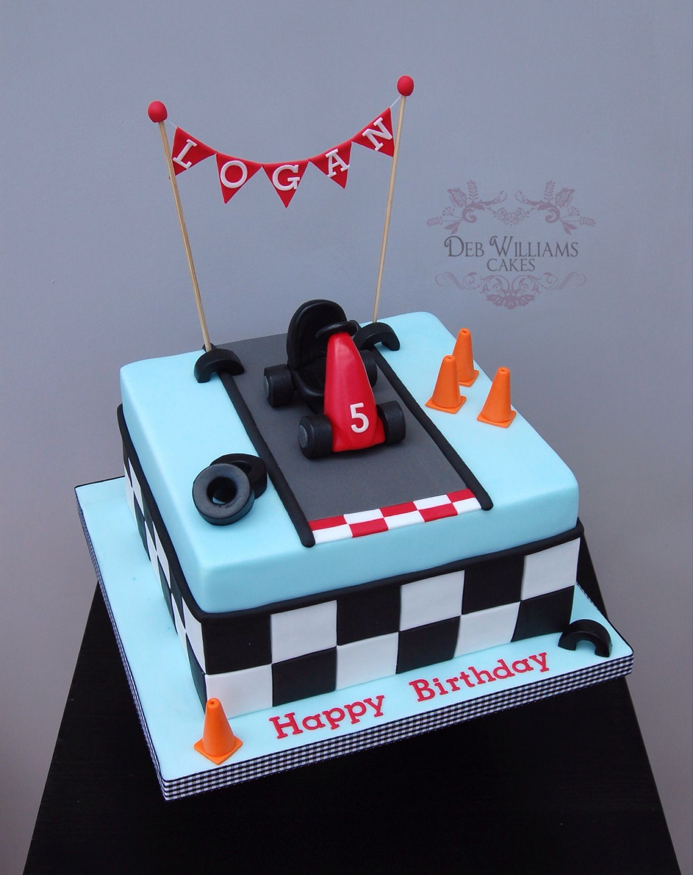 Go Karting Theme Cake By Deb Williams Cakes Mickey Mouse