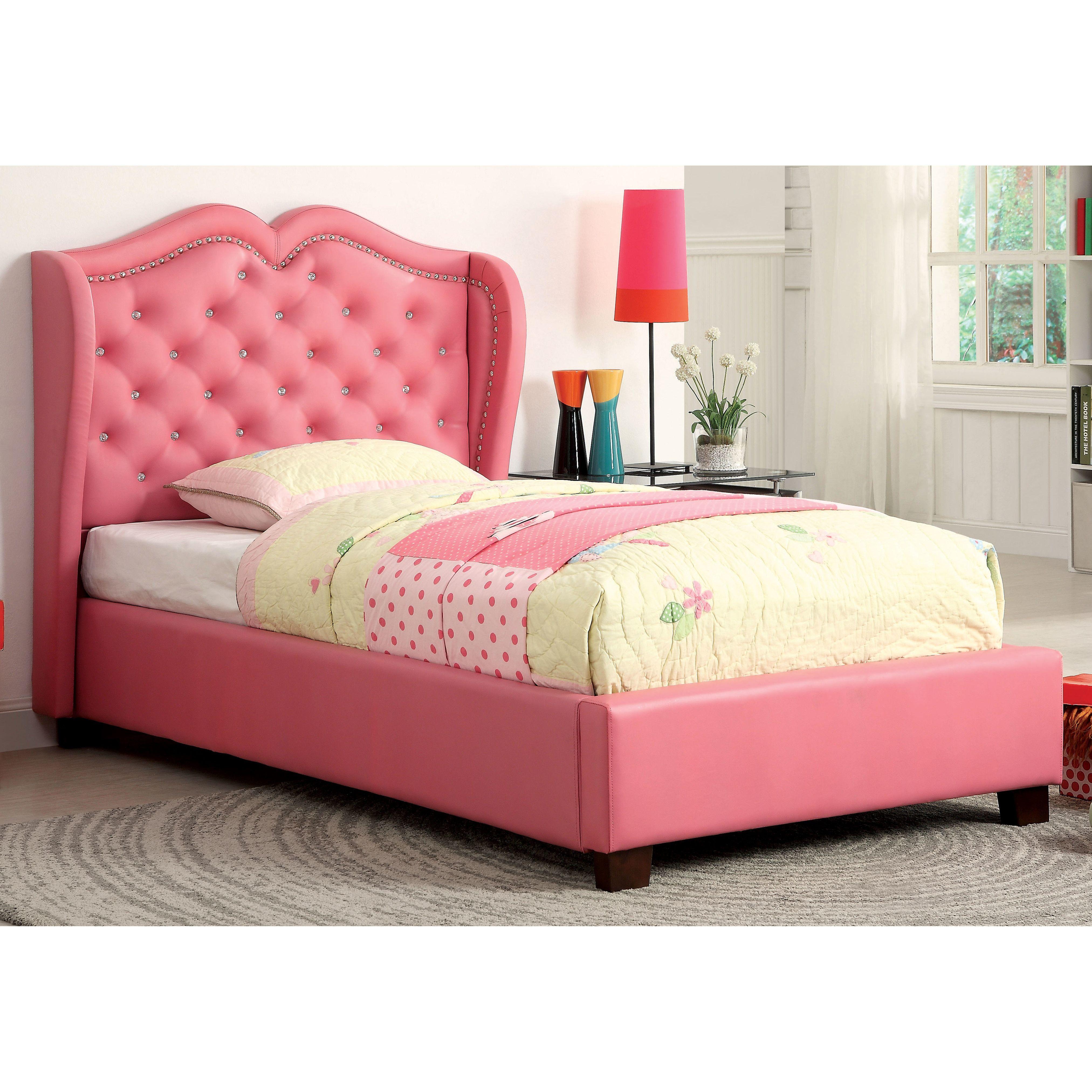Vanitas Tufted Upholstered Platform Bed Leather Upholstered Bed