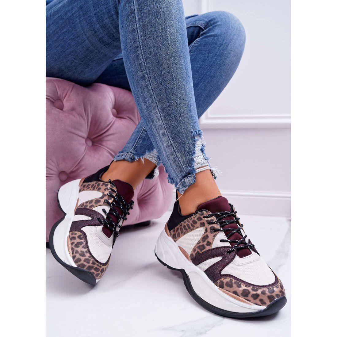 Damskie Sportowe Obuwie Bordowe Skora Weza Larey Brazowe Czerwone Wielokolorowe Shoes Golden Goose Sneaker Sneakers