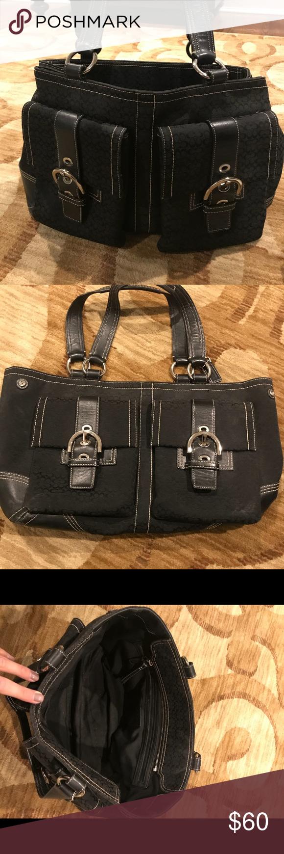 Spotted while shopping on Poshmark  Coach Vintage Soho Hobo Cargo Tote  Shoulder Bag!  poshmark  fashion  shopping  style  Coach  Handbags 58dae510c7