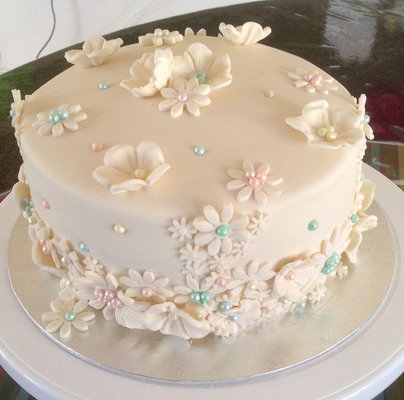 My Birthday Cake Lemon And Orange Cake Recipes From Pinterest With My Favourite Cream Cheese Frosting And Ivory Fondant L Orange Cake Orange Cake Recipe Cake