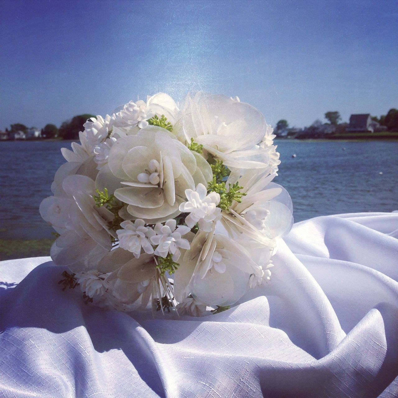 Check It Out Seashell Wedding Bouquet Flowers Made Out Of Natural