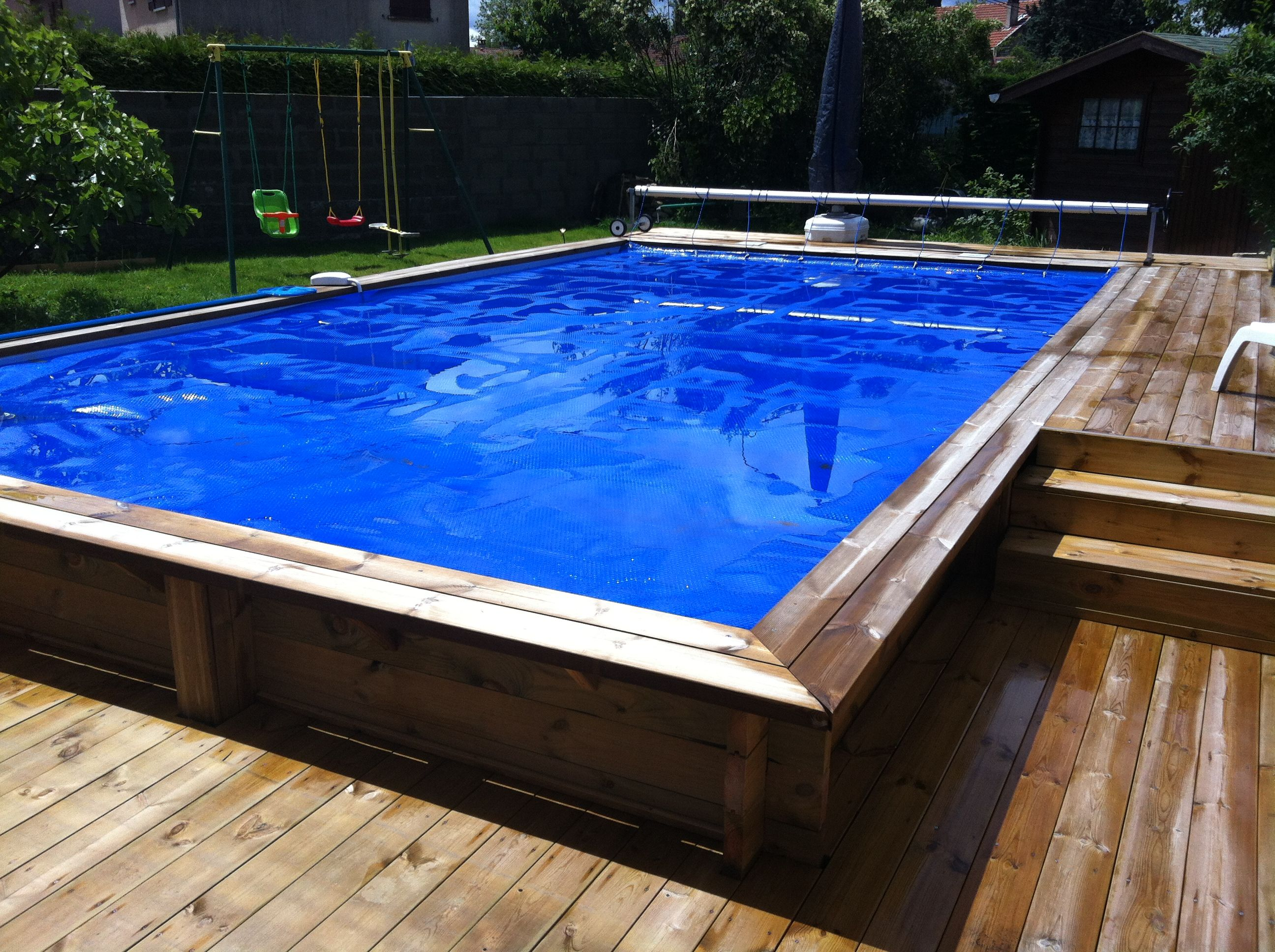 Piscine Semi Enterr E Pool Pinterest Piscine Hors Sol