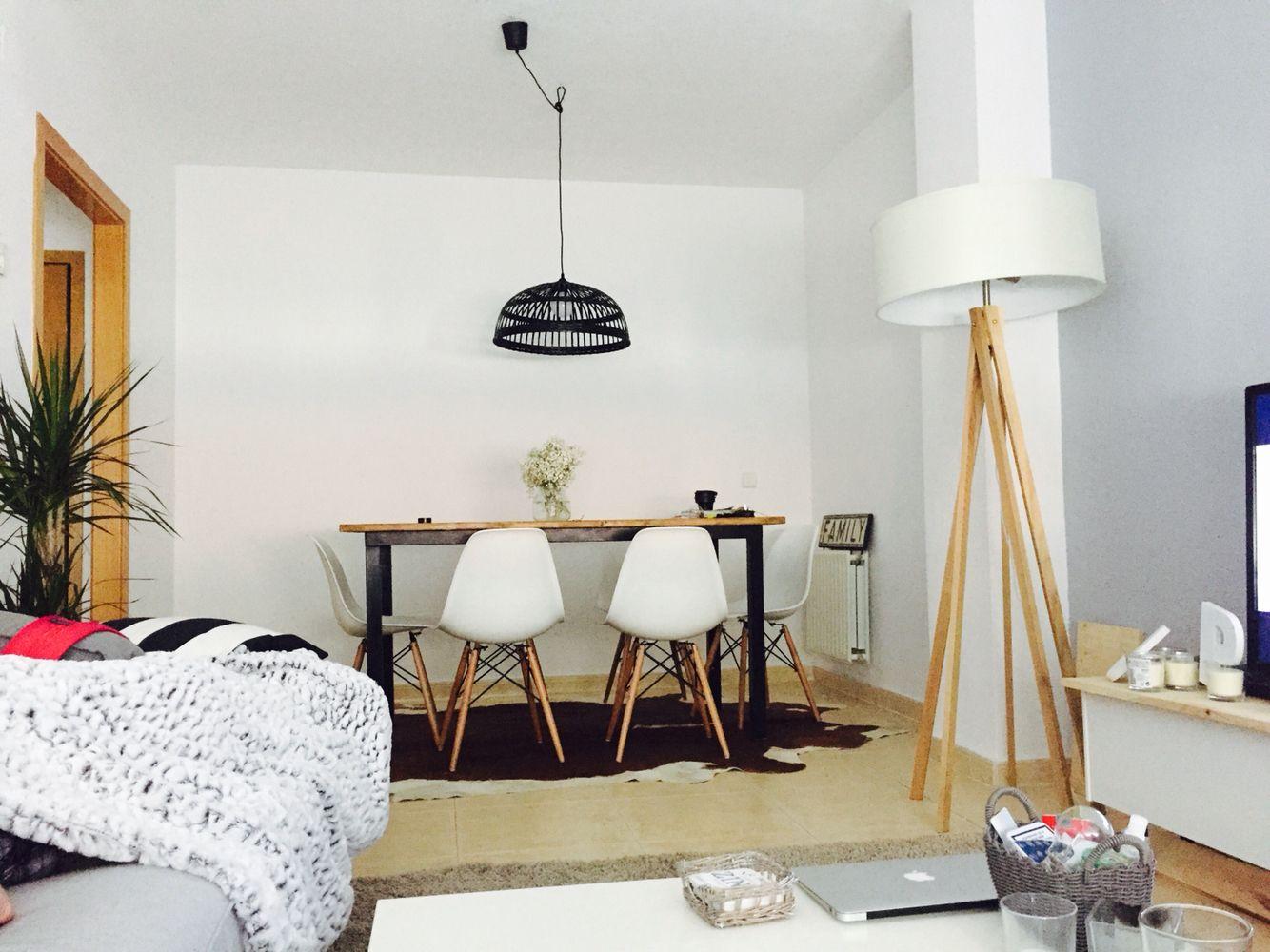 Salón, lampara mesa Ikea, lampara pie mimub | decoration | Pinterest ...