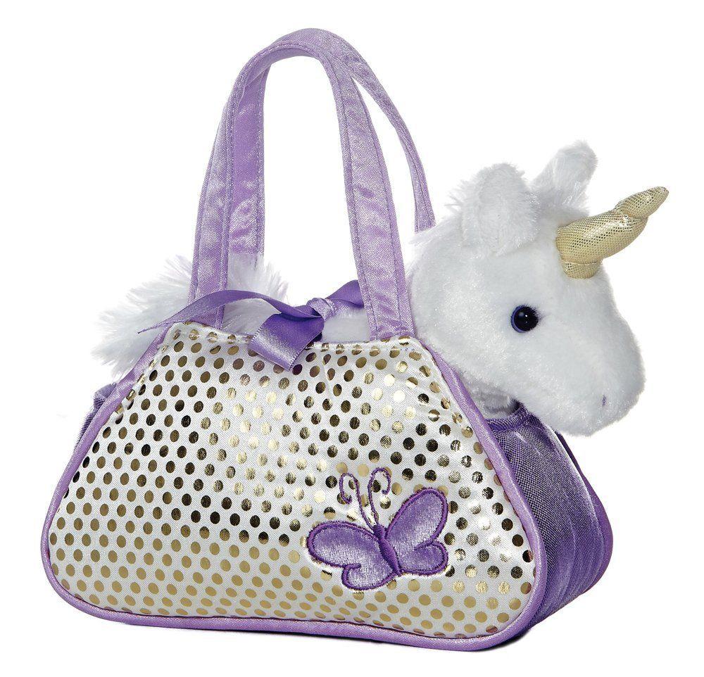 Amazon Com Aurora Mundial Aurora Unicornio Fancy Pals Pet Carrier Juguetes Y Juegos Unicorn Toys Pet Carrier Purse Unicorn Stuffed Animal