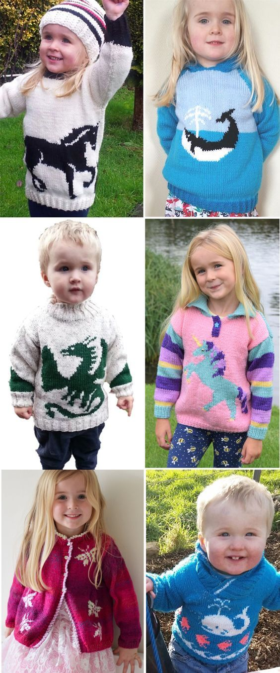 Knitting Pattern For Animal Sweaters For Babies And Children