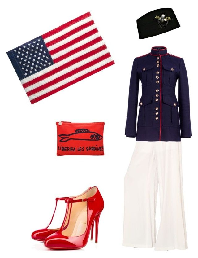 """""""Proud"""" by miracle-child-1 ❤ liked on Polyvore featuring M Missoni, Burberry, Clare V., Christian Louboutin and Evergreen Enterprises"""