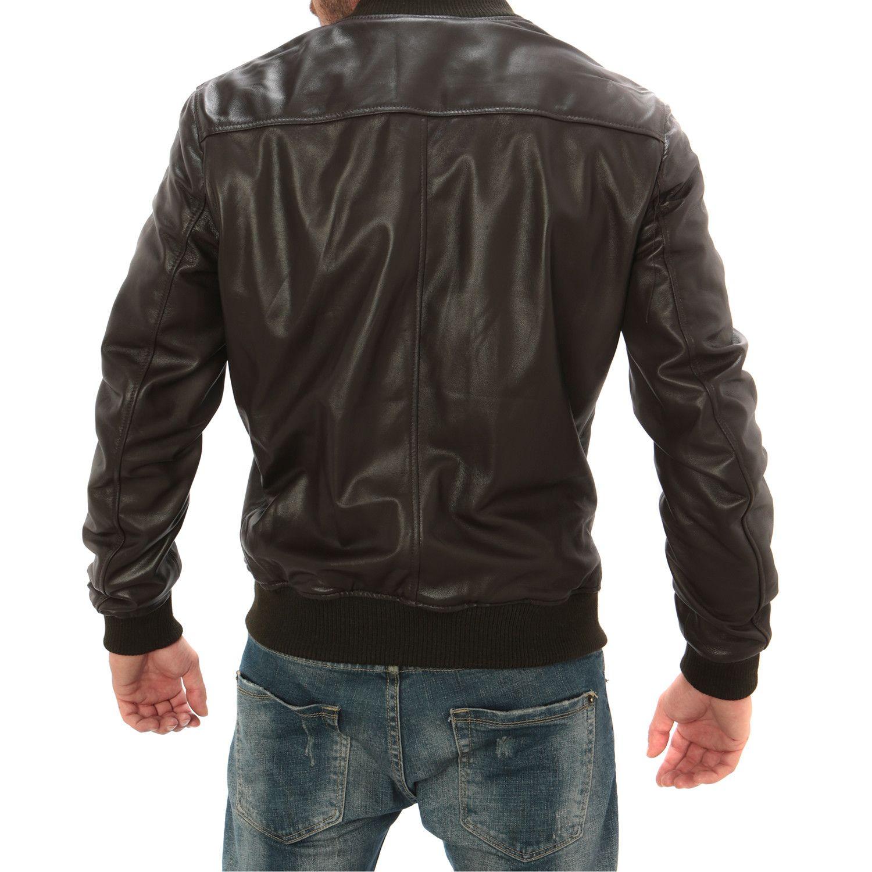Contrast Bomber Jacket // Dark Brown Bomber jacket