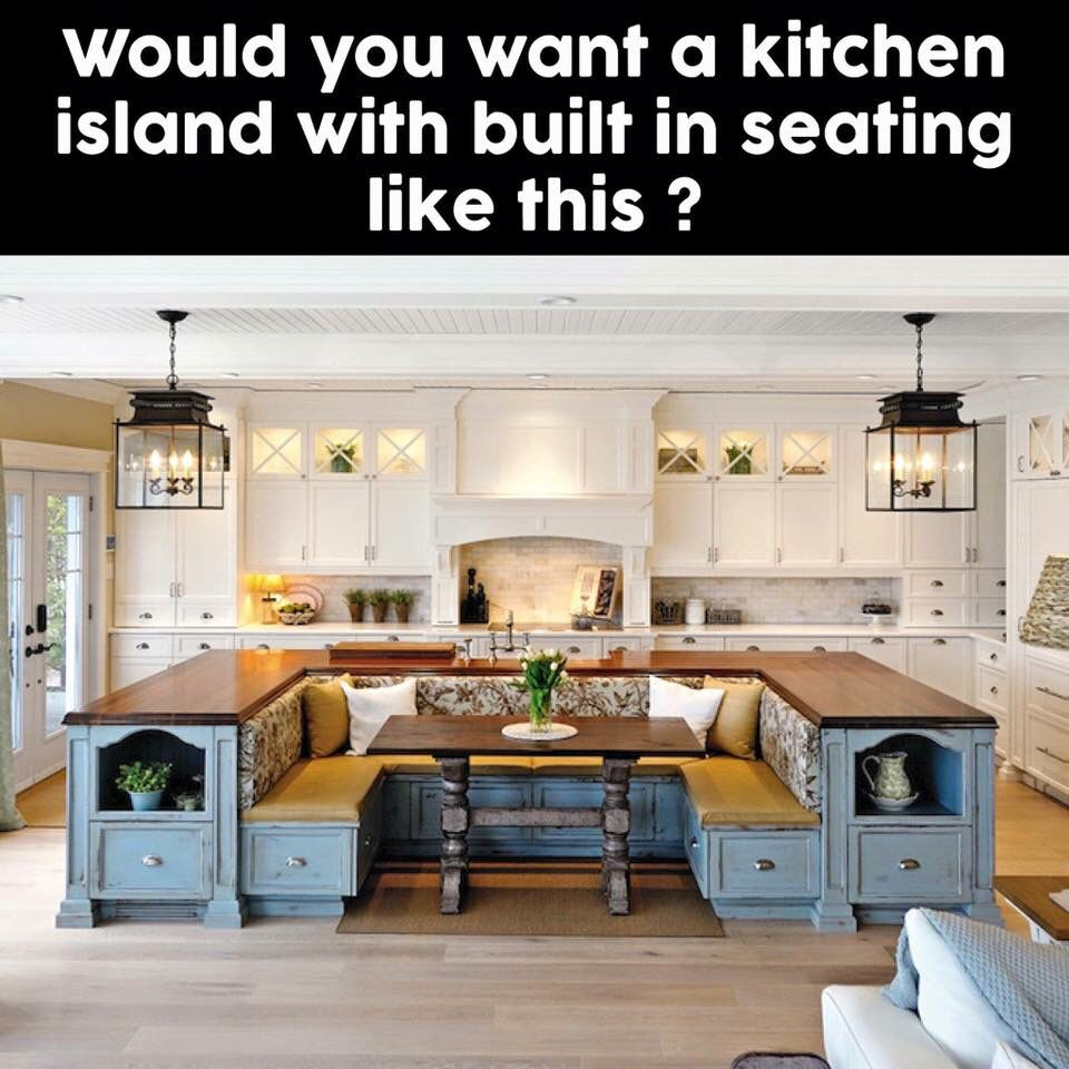 Built In Kitchen Table: Kitchen Island With A Built In Bench Kitchen Table. Need