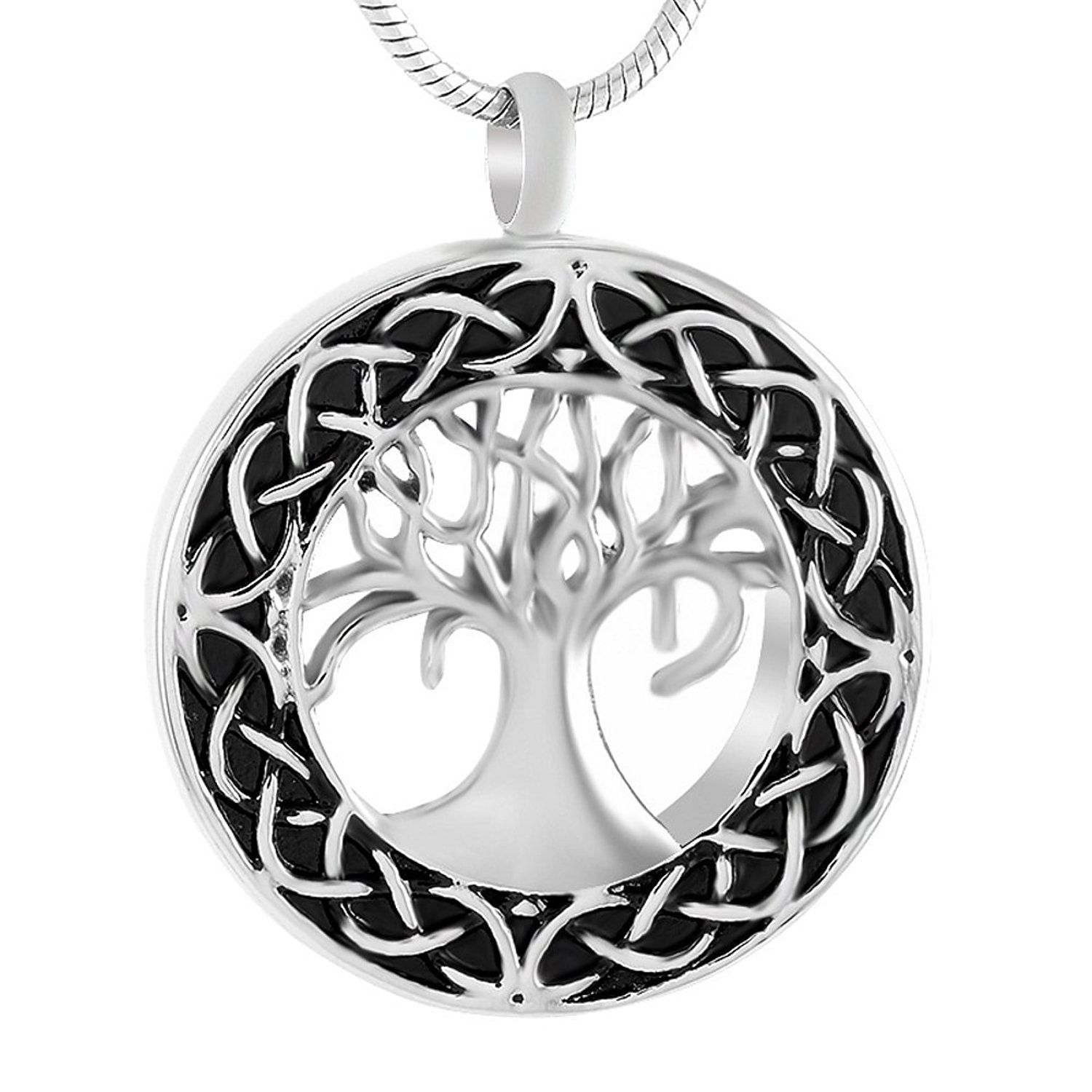 Celtic tree of life urn necklace cremation jewelry memorial celtic tree of life urn necklace cremation jewelry memorial keepsake pendant funnel kit included solutioingenieria Choice Image