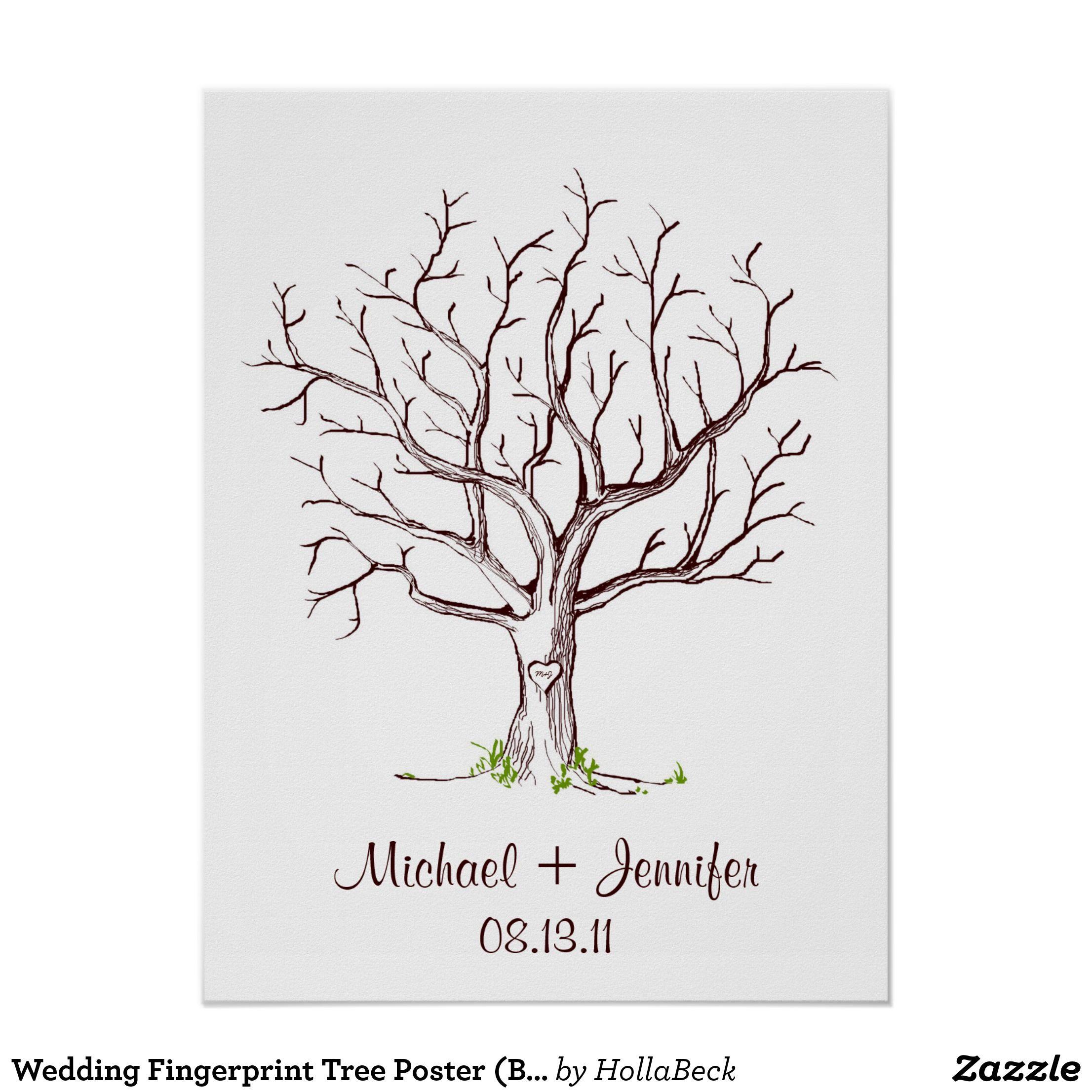 Fingerabdruck Hochzeit Vorlage Vorlage Baum Vorlagen Templates