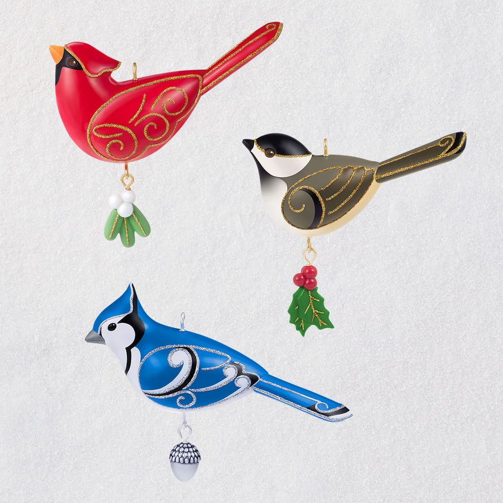 2019 beauty of birds outdoor bird ornament set hallmark