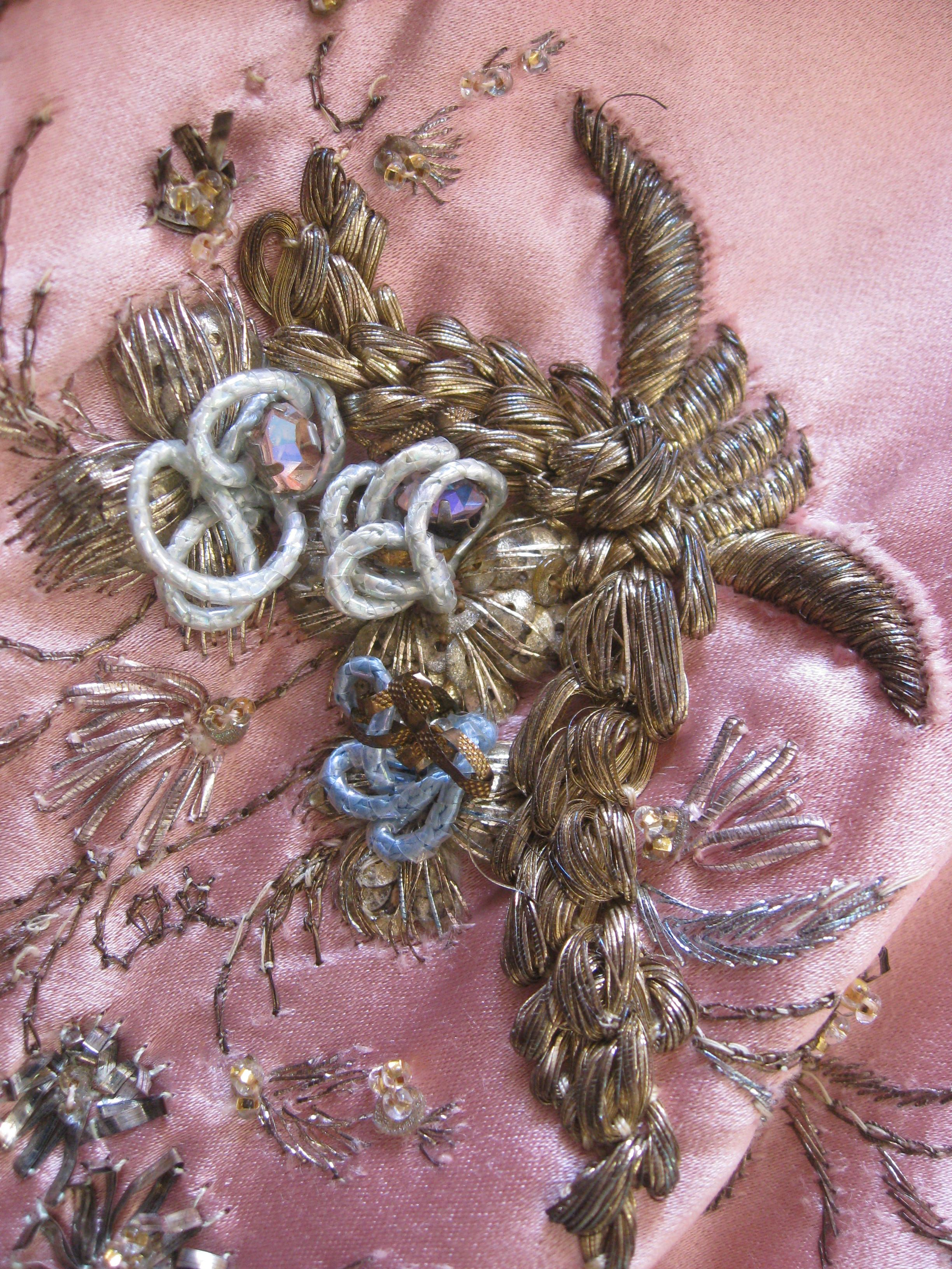 Detail of the embroidery on a Dior Gown which I have studied in the Bath Fashion…