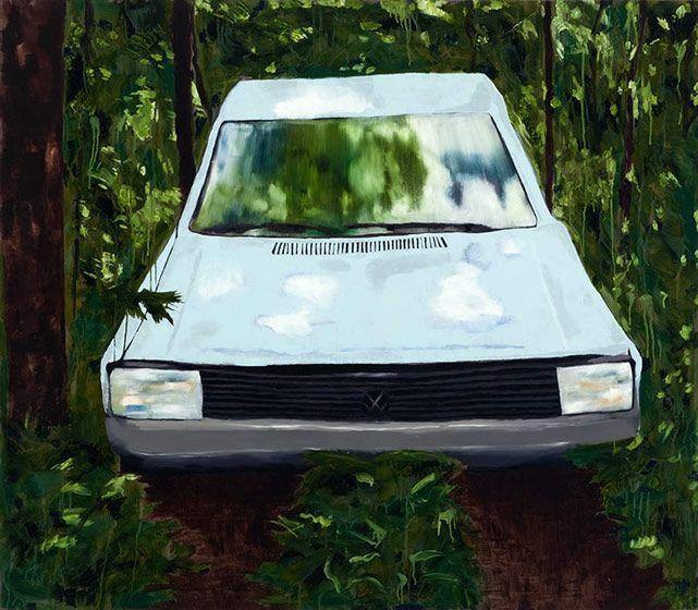 Carro no Mato 2010 óleo s/ tela 140x160 cm   Ana Prata