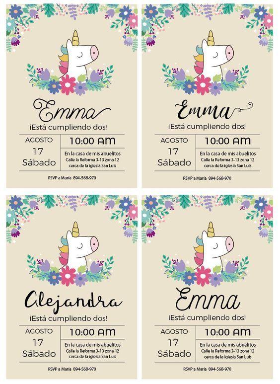 Tipos De Letras Para Invitaciones Cumpleaños