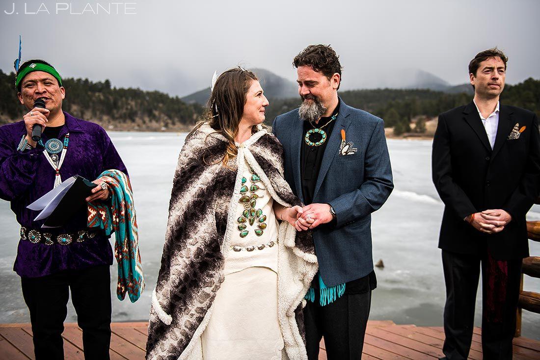 Cherokee Wedding Ceremony Evergreen Lake House Photographer J La