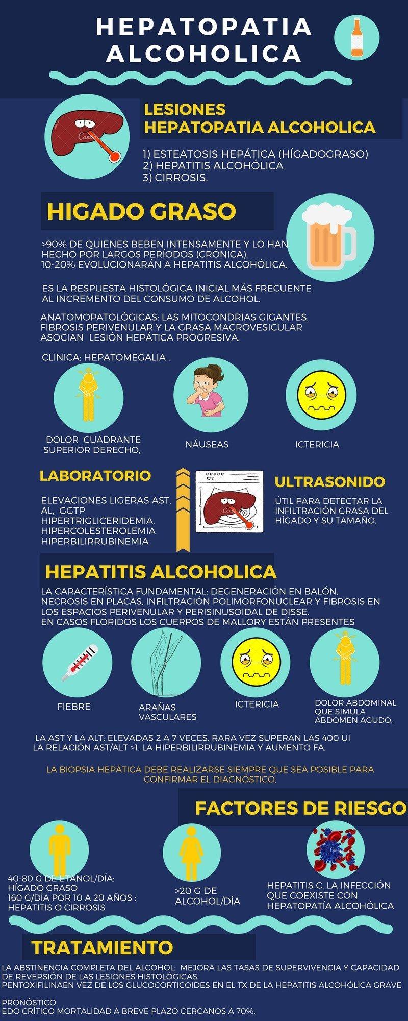 HEPATOPATIA ALCOHOLICA | Anatomía | Pinterest | Medicina, Salud y ...