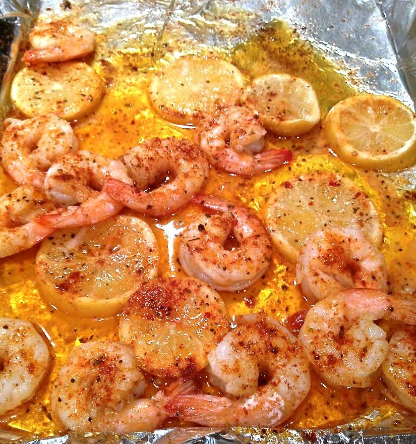Baked Cajun Lemon Shrimp