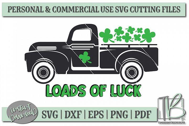 Download Vintage Truck SVG, St Patricks Day SVG File, Loads of Luck ...