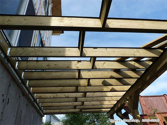 Construire une terrasse - Solives de la terrasse - solives du patio - construction d une terrasse bois