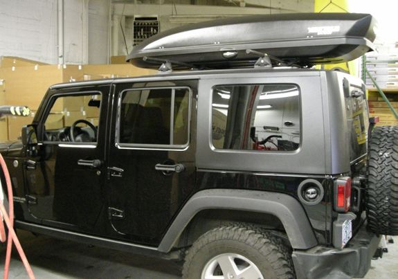 2008 Jeep Wrangler Unlimited 4dr Cargo Box Cargo Carrier Roof Rack