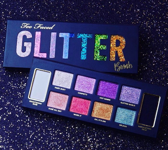Too Faced Glitter Bomb Eyeshadow Palette Sommer 2017