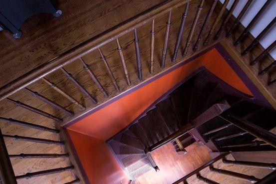 The Service Staircase In The Kreischer Mansion On Staten Island, New York.