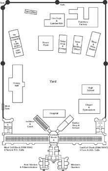 Old Layout Of The Reformatory Today Only The Front Building Is