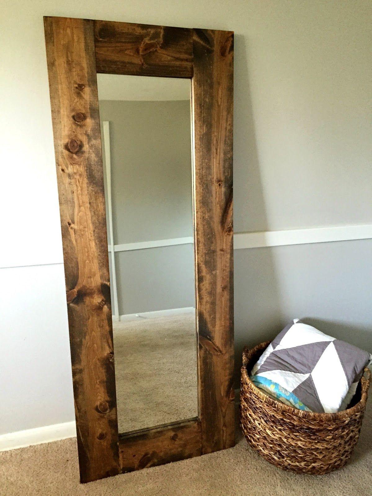 Materials: frameless door mirror here 2 - at 6 feet long 1 piece of backing  mirror adhesive wood glue drill and pocke. - Materials: Frameless Door Mirror Here 2 - 1x6 At 6 Feet Long 1