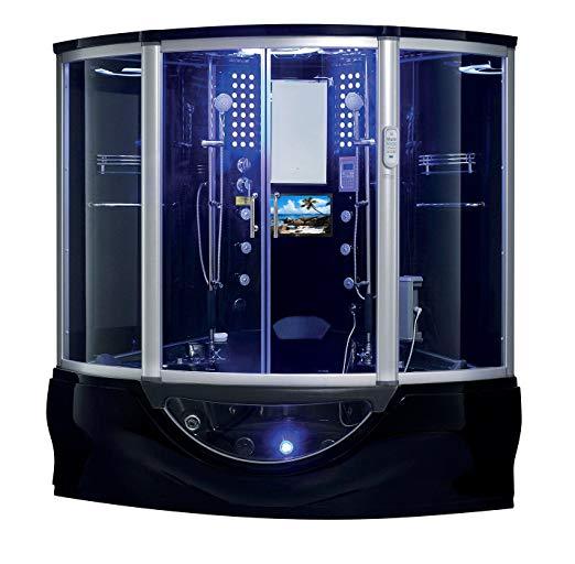 2020 Manhattan Luxury Computerized Steam Shower Sauna With Jetted Jacuzzi Whirlpool Massage Bathtub Spa With Whirlpool Bathtub Steam Showers Steam Shower Units