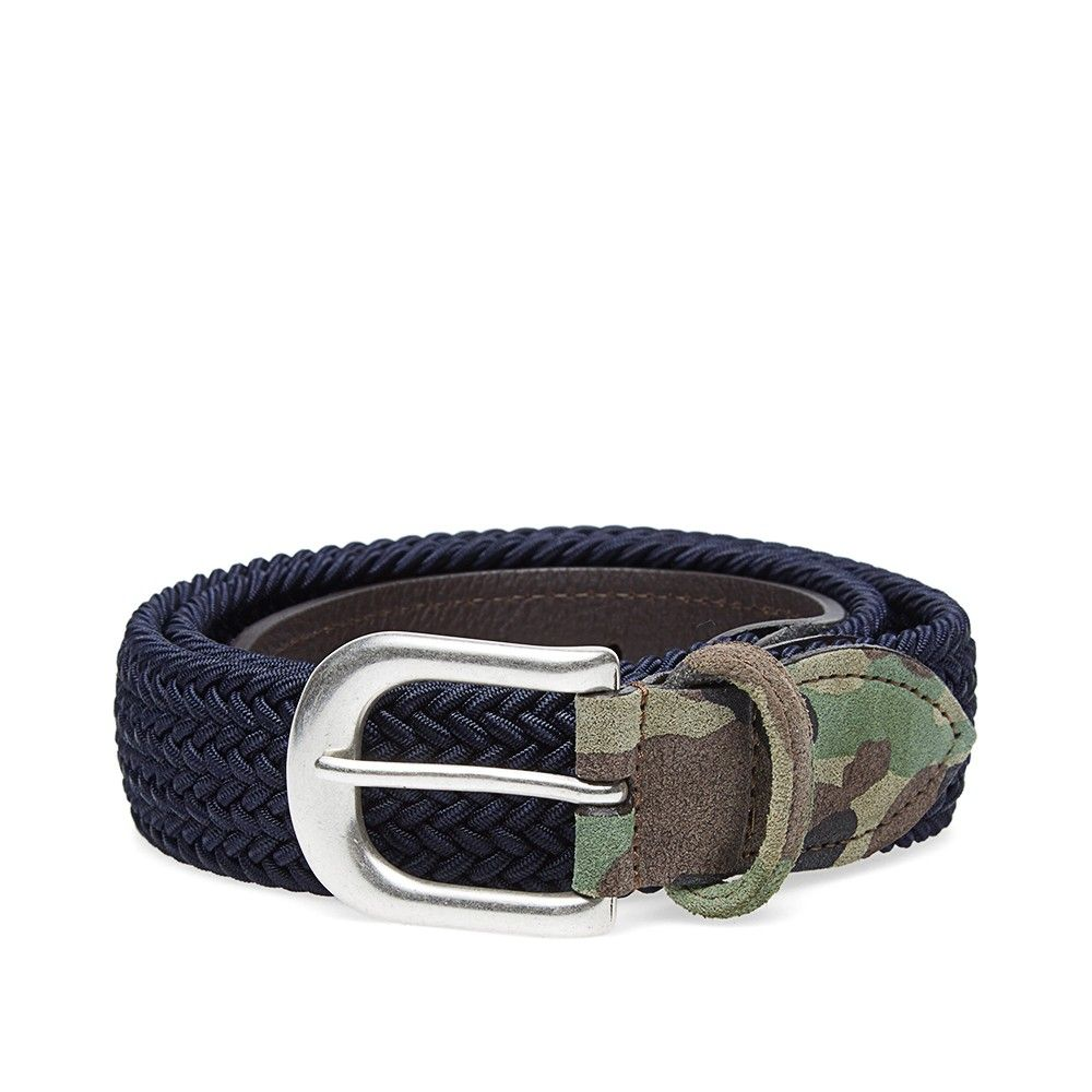 Anderson's Woven Textile Belt (Navy & Camo)