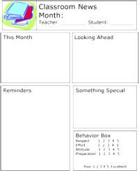Awesome Kindergarten Newsletter Template Contemporary - Guide to ...