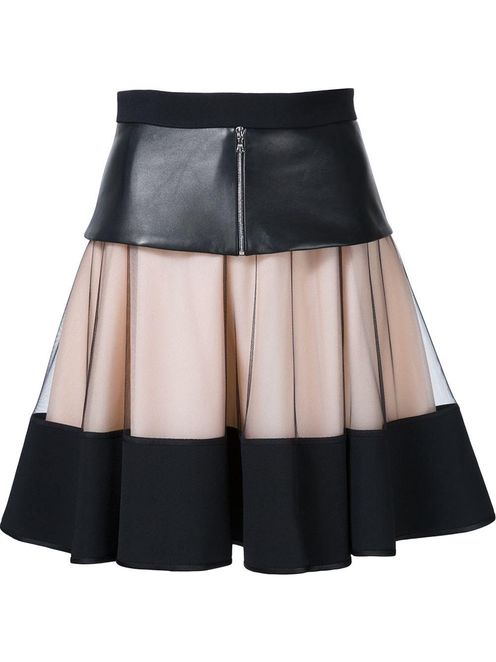 182dcd9ee37 David Koma многослойная юбка А-образного кроя