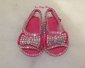 Romany Bling Baby Girl Pink Espadrille Bow Sandals