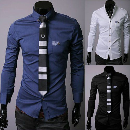 Men Fashion Clothing Mens Dress Shirts Mens Handsome Shirt Stylish ...