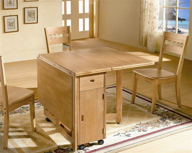 Gorgeous Folding Dining Table And Chair Set The