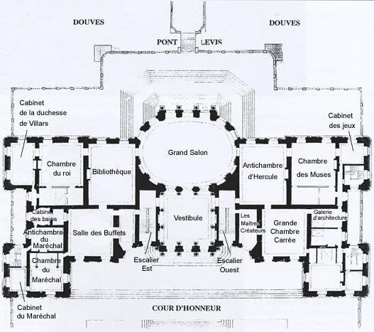 Vaux Le Vicomte Vaux Le Vicomte Plan Au Sol Chateau France