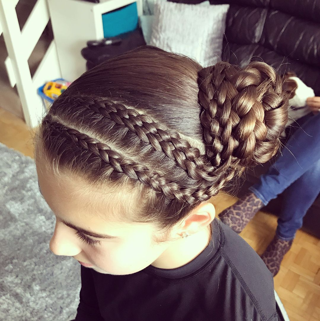 Beautiful Holly Ready For Her Gymnastics Competition Tomorrow X Hairbyjules Hairstyles Hair Gymnasticshair Br Competition Hair Kids Hairstyles Hair Styles