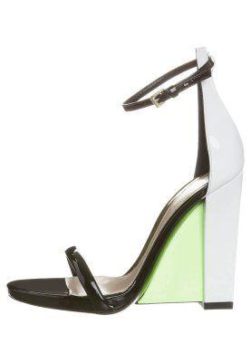 High Heel Sandalette - vernice nero + bianco/ Sebastian