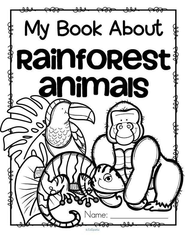 Rainforest theme activities and printables for Preschool ... | jungle animals coloring pages for kindergarten
