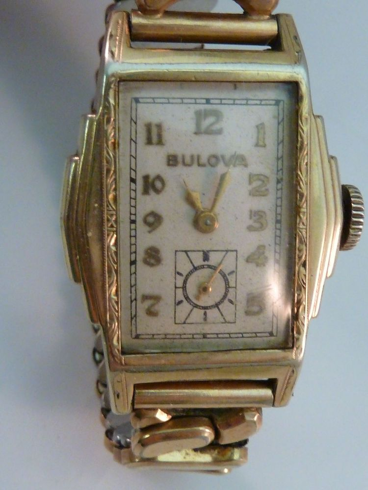 Vintage Bulova Watch 1930s Art Deco Stepped Case 10k Rolled Gold 15 Jewels 10an Vintage Bulova Watches Bulova Watches 1930s Art Deco