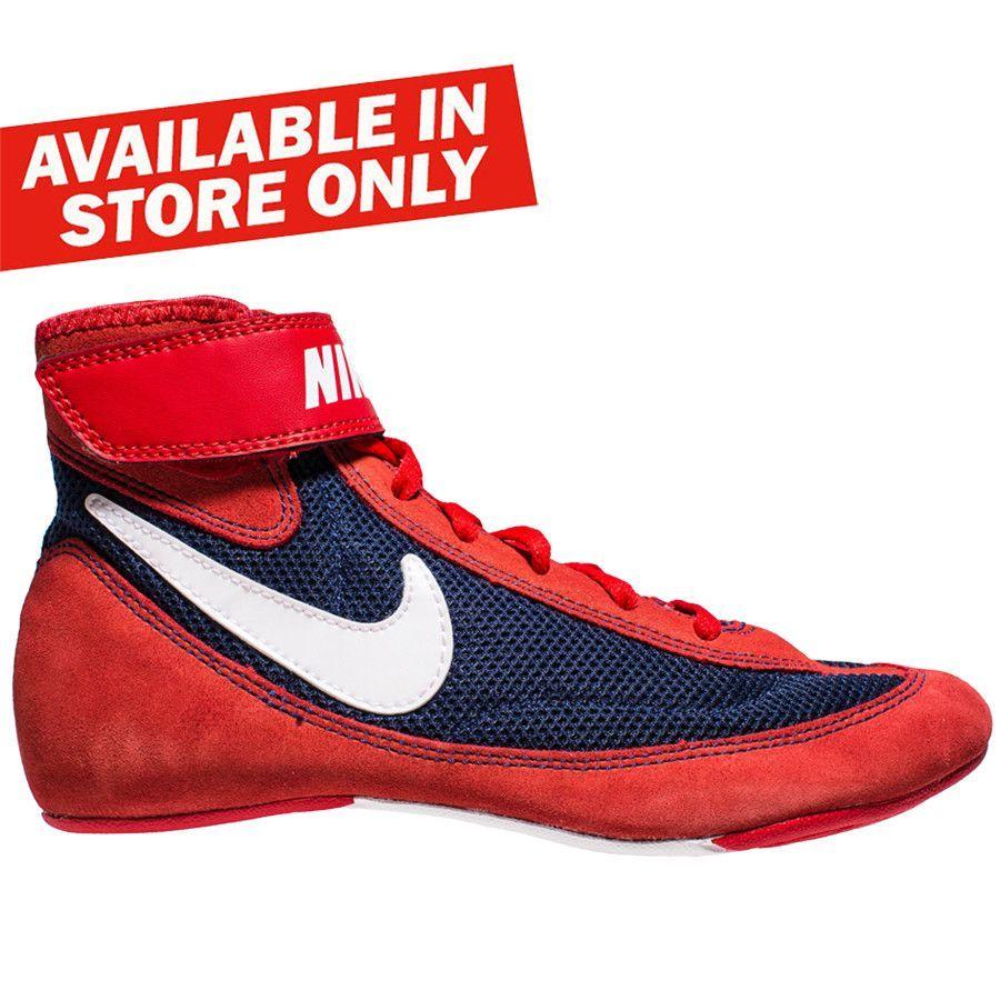 Nike Speedsweep VII Boxing/Wrestling Shoes - Red/Navy #fightstore  #fightshop #