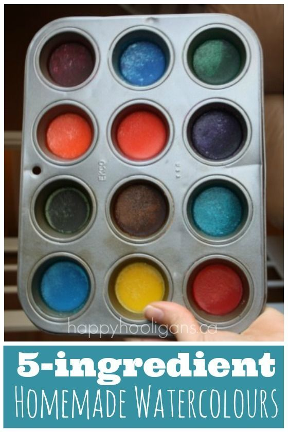 Homemade Watercolour Paints with Kitchen Ingredients - Happy Hooligans