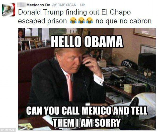 9fb2d359e1fbd7cb14cfaa6235faf595 twitter ablaze with jokes about el chapo hunting down trump