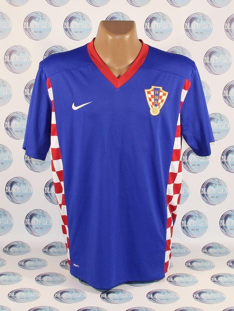 4301cb2cac1 CROATIA NATIONAL TEAM 2008 2009 FOOTBALL SOCCER SHIRT JERSEY ERA MODRIC  SRNA XL  Nike  Croatia