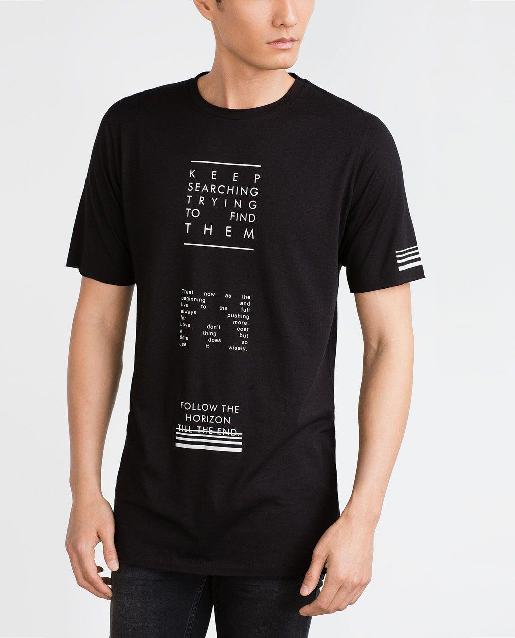 Image 2 of TEXT T SHIRT from Zara | Camisas estampadas